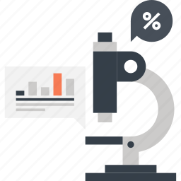 analysis, chart, market, microscope, research, science, statistics icon