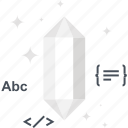 clean, code, diamond, gem, optimization, program, programming icon