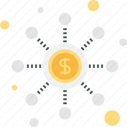 funding, global, internet, investment, network, online, web icon