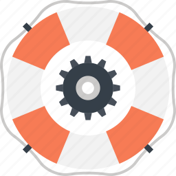 assistance, help, life, lifebuoy, ring, support, technical icon