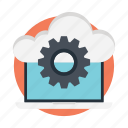 cloud computing, cloud configuration, cloud service, cloud setting, cloud storage preferences icon