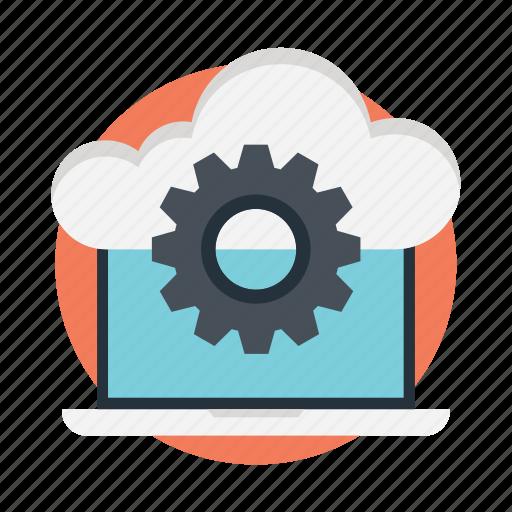cloud computing, cloud configuration, cloud service, cloud setting, cloud storage preferences icon