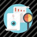 data visualization, market intelligence, market research, swot analysis, target marketing icon