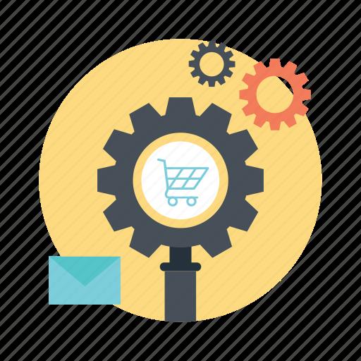 digital marketing, e commerce optimization, e-commerce management, seo, web development icon
