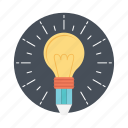 best solution, bulb pencil, ideas inspiration, innovation, splash pencil icon