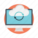 cloud backup, cloud computing, cloud sync, disaster recovery, sync icon