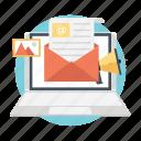 digital marketing, email marketing, social campaign, social media, social network icon