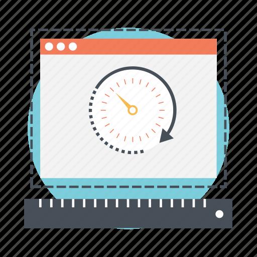 web odometer, web performance, web rating, web speed, web traffic icon