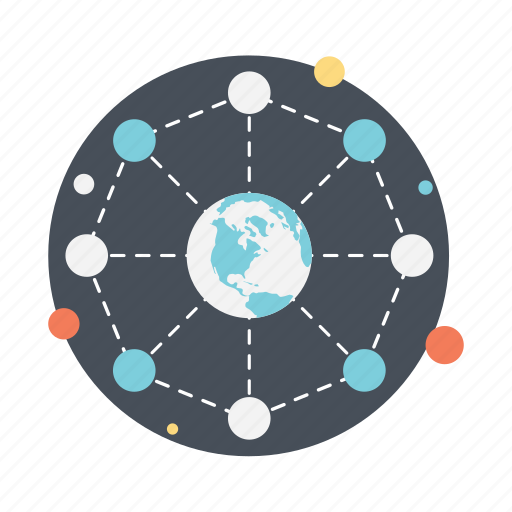 cyberspace, global communication, global connection, global network, worldwide connection icon