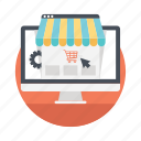 ebusiness, ecommerce, market share, online marketing, online shopping icon