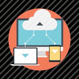 backup, cloud computing, cloud hosting, cloud network, cloud service icon