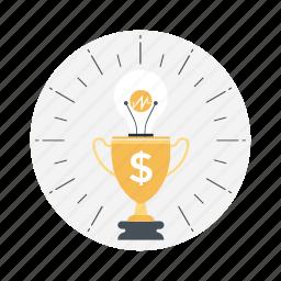 business achievement, business success, financial achievement, financial concept, trophy icon