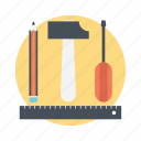 drafting, modify, repair, setting tools, stationary icon