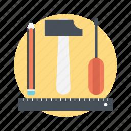 drafting, modify, repair, setting tools, stationary icon