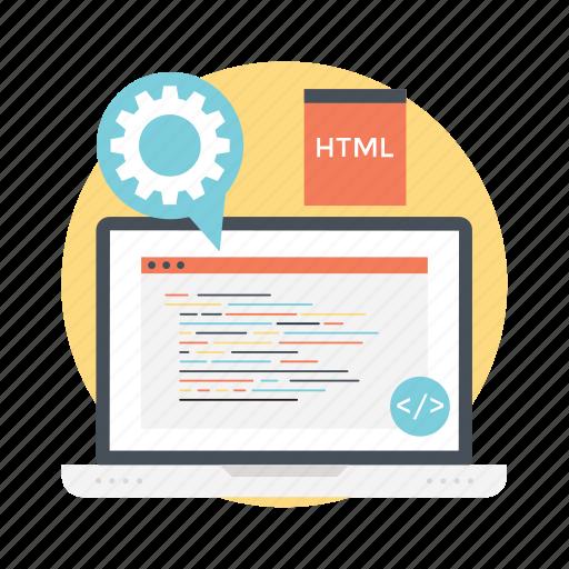 binary code, html, programming, web code, web development icon