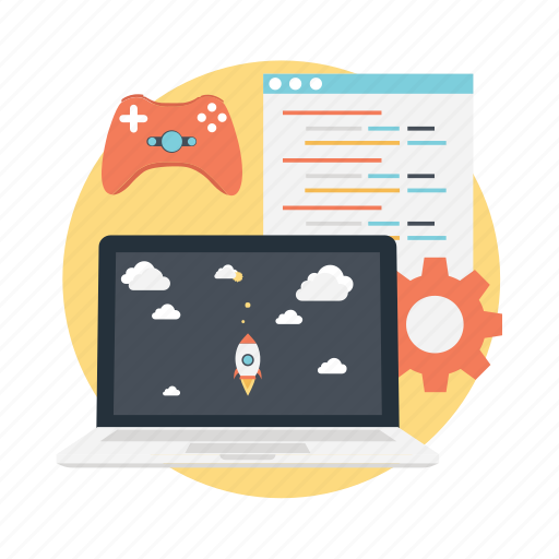 animation, game design, game development, interactive design, software development icon