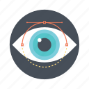 visualization, monitoring, observation, vision, view icon