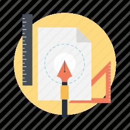 artwork, designing, drawing, graphics work, sketching icon