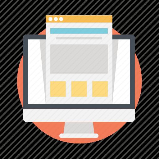 css design, web design, web graphics, web layout, website layout icon