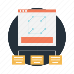 modular template, web sitemap, website layout, website template, wireframe icon