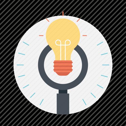 creativity, development, innovation, search idea, search talent icon