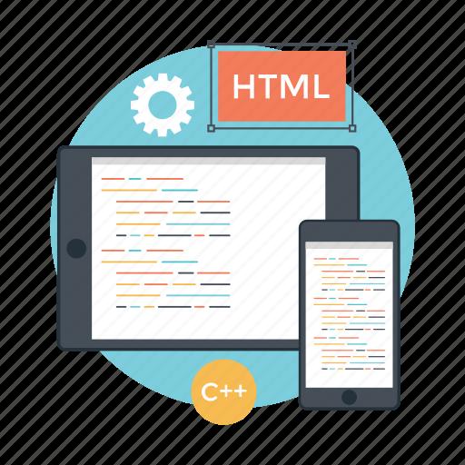 computer programming, custom coding, software code, software development, web coding icon
