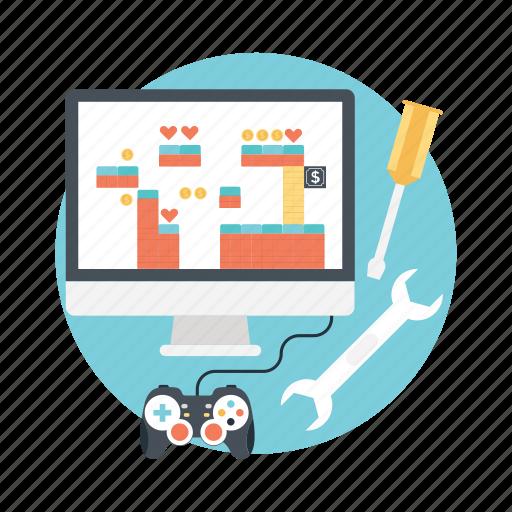 animation, game design, game development, interactive design, software development icon