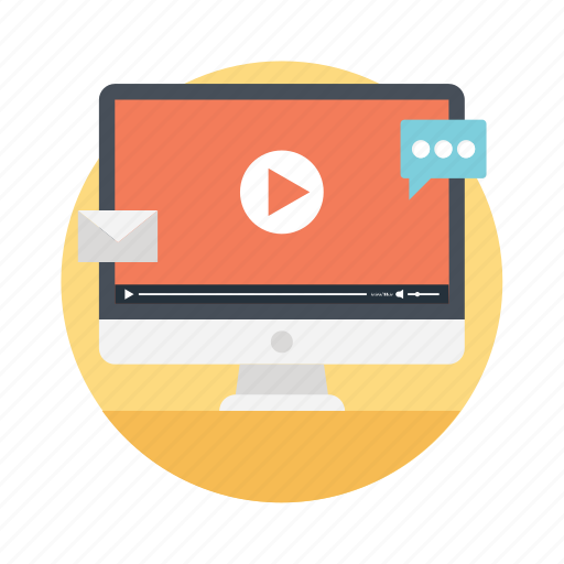 media marketing, online video, video ads, video advertising, video selling icon
