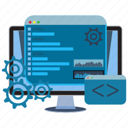 coding, development, html, internet, programming, site, web icon
