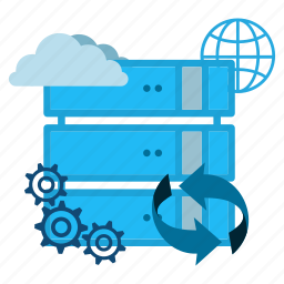 backup, cloud, connection, data, information, servers, storage icon