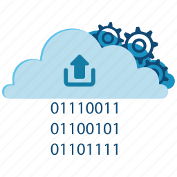 cloud, connection, data, information, internet, storage, upload icon