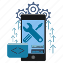 application, coding, development, mobile, programming, smartphone, software icon