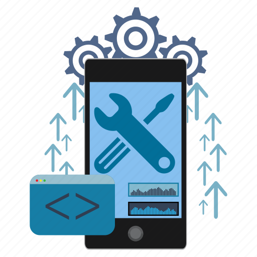 application, coding, development, mobile, programming, smartphone, software icon