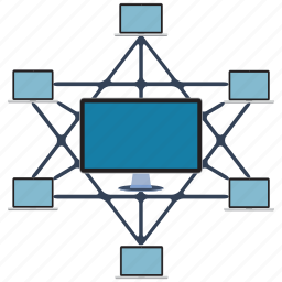 connection, data, information, internet, network, pc, transfer icon