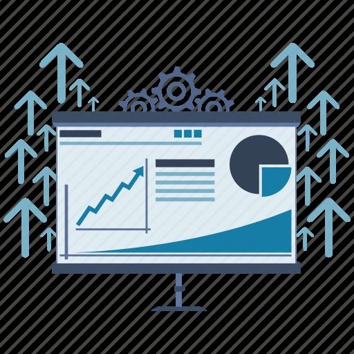analyze, information, learning, seo, skills, teaching, training icon