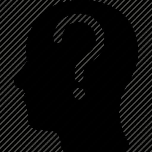 brain, enquiry, faq, query, question icon