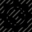 cog, configure, global, globe, preferences icon