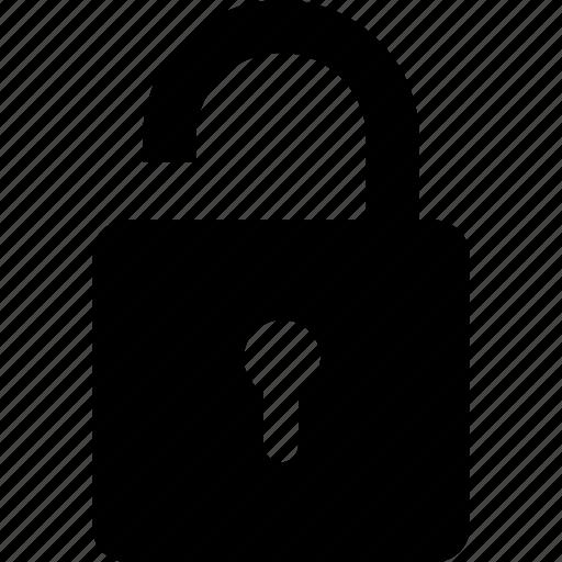 lock, open, padlock, unbolted, unlock icon