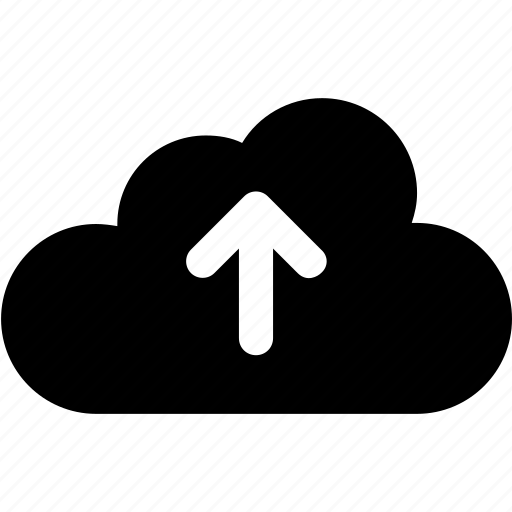 cloud, cloud upload, computing, data, up icon