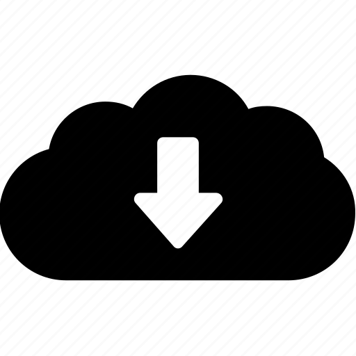 cloud, computing, download, network, share icon