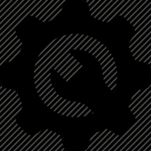 cog, configuration, gear, setup, spanner icon