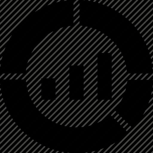bar graph, donut, graph, line, report icon