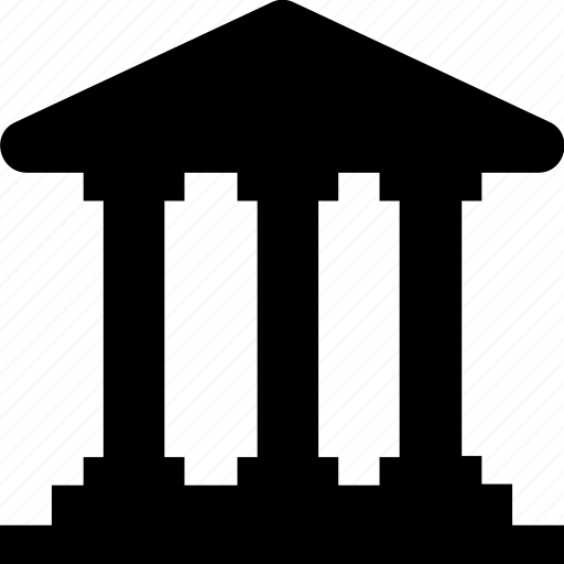 architecture, bank, building, courthouse, property icon