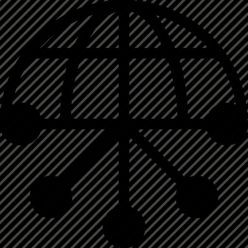 globe, hierarchy, network, sitemap, workflow icon