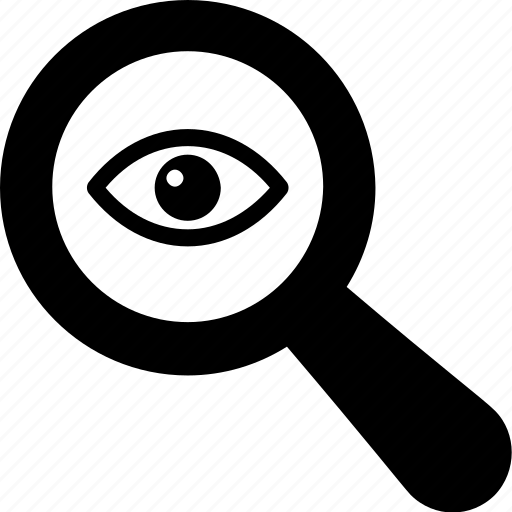 eye, magnifier, search, view, vision icon