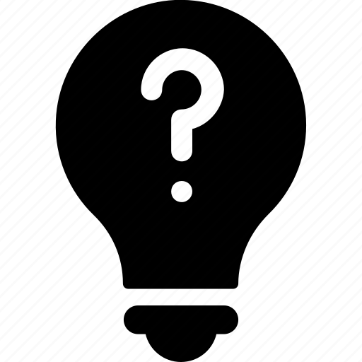 bulb, faq, information, invention, question icon