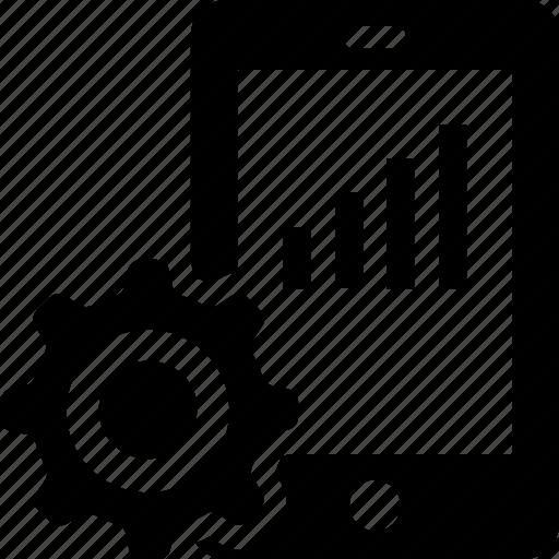 configuration, graph, mobile graph, online graph, preferences icon