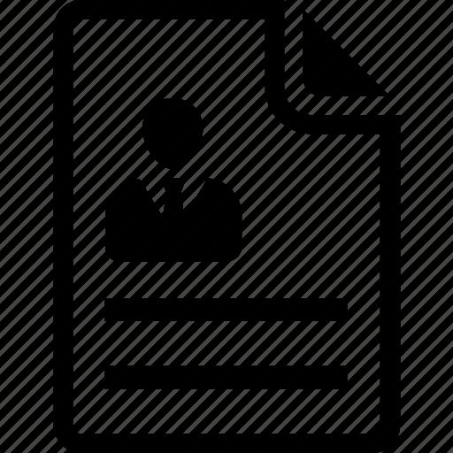 biodata, cv, form, questionnaire, resume icon