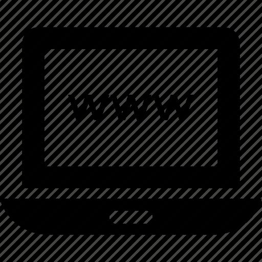 domain, laptop, url, web, www icon