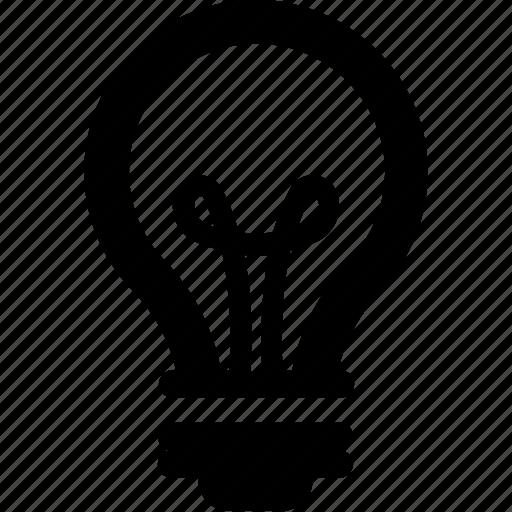 bulb, idea, invention, light, luminaire icon